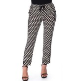 Crew Knit Wear LLC  Black & White Printed Pant
