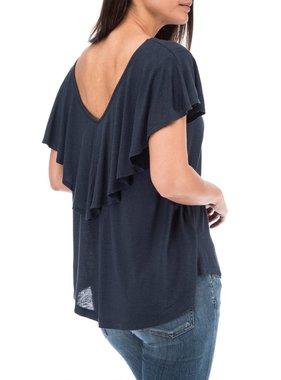 Crew Knit Wear LLC cape back knit tee
