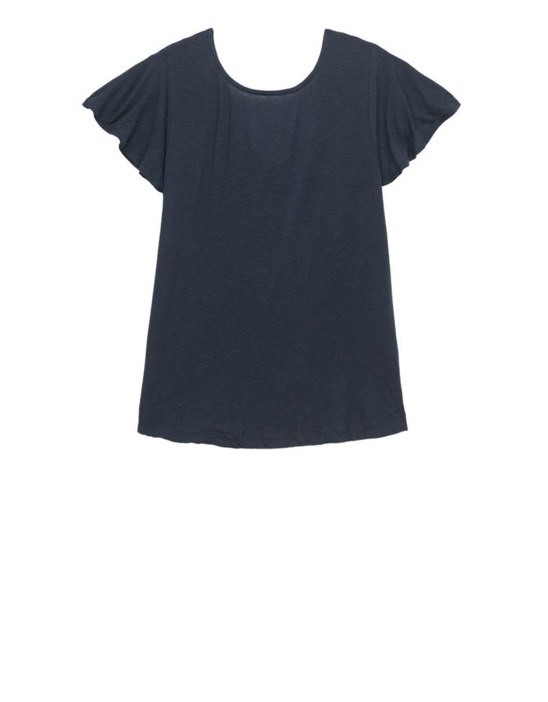 Crew Knit Wear LLC Navy Cape Back Top