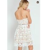 She + Sky off white lace dress