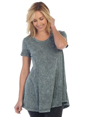 Jess & Jane mineral washed short sleeve tunic top