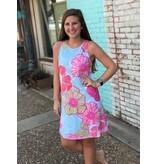 promesa usa Mint Floral Dress