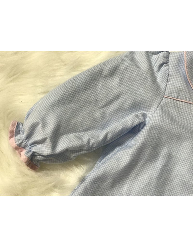Renzo Soft Blue Gingham Cotton Flannel
