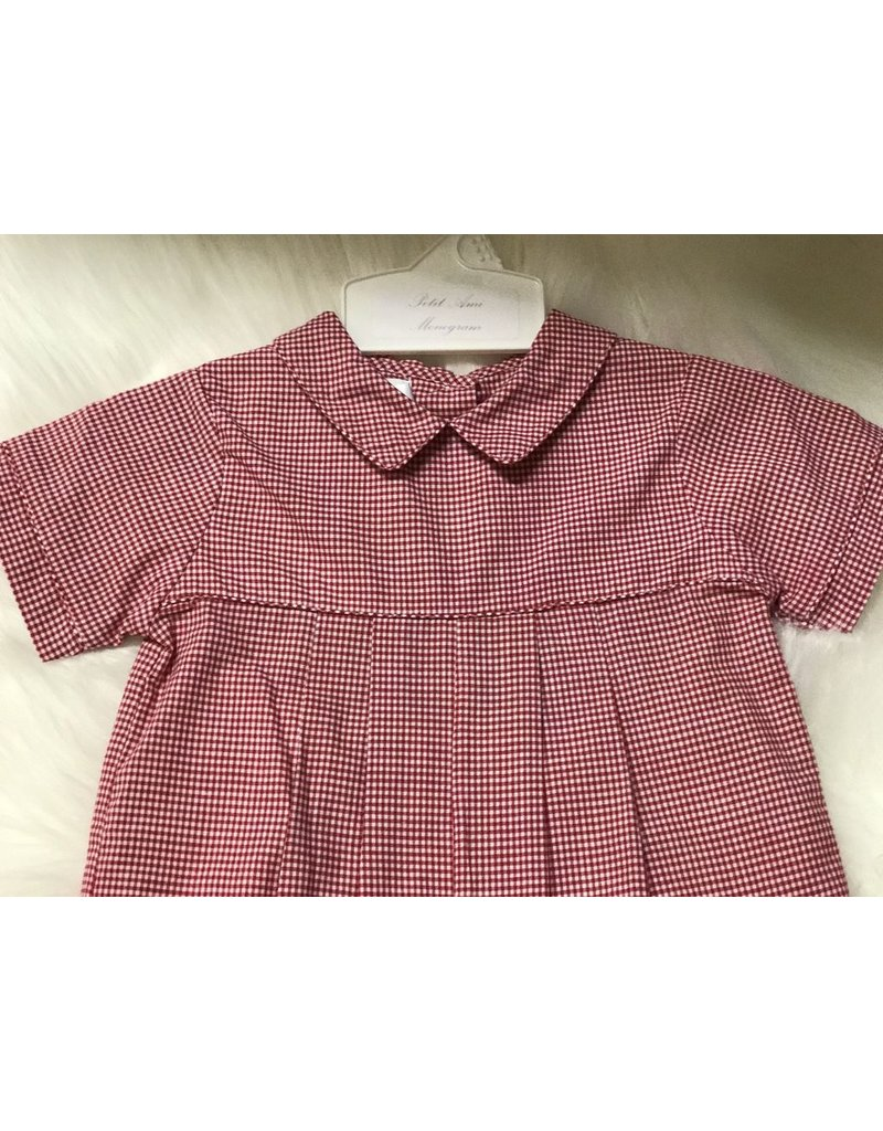 Renzo Red Gingham Longall