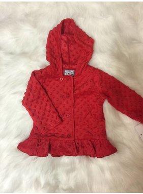 Three Sisters Red Minky Dot Jacket