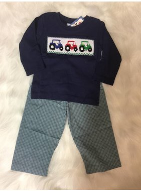 Three Sisters Smocked Tractor Set