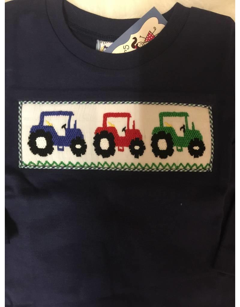 Three Sisters Smocked Tractor Set