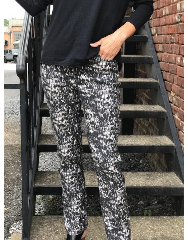 Tribal Black & White Printed Pants