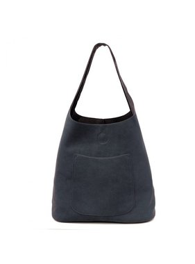 JOY Accessories Dark Navy Molly Slouchy Hobo Handbag