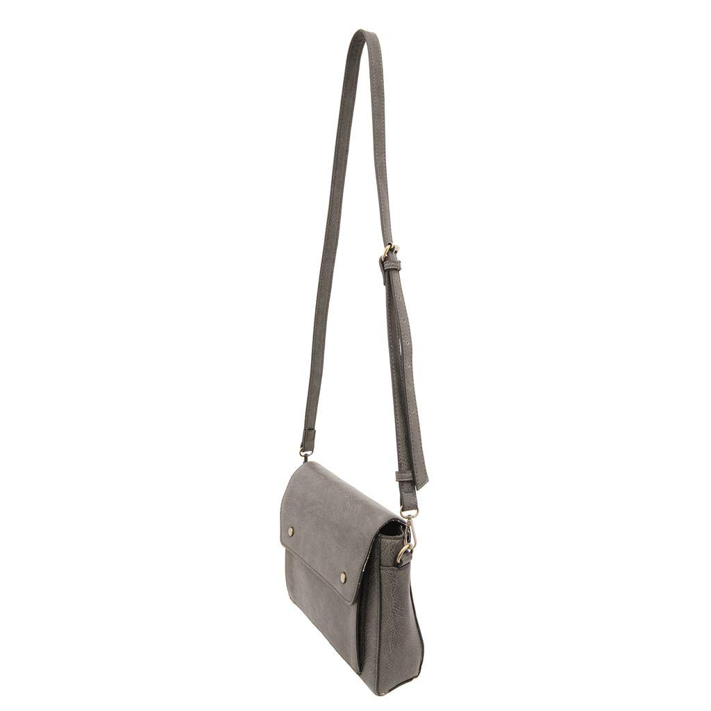 JOY Accessories Grey Taylor Satchel Crossbody