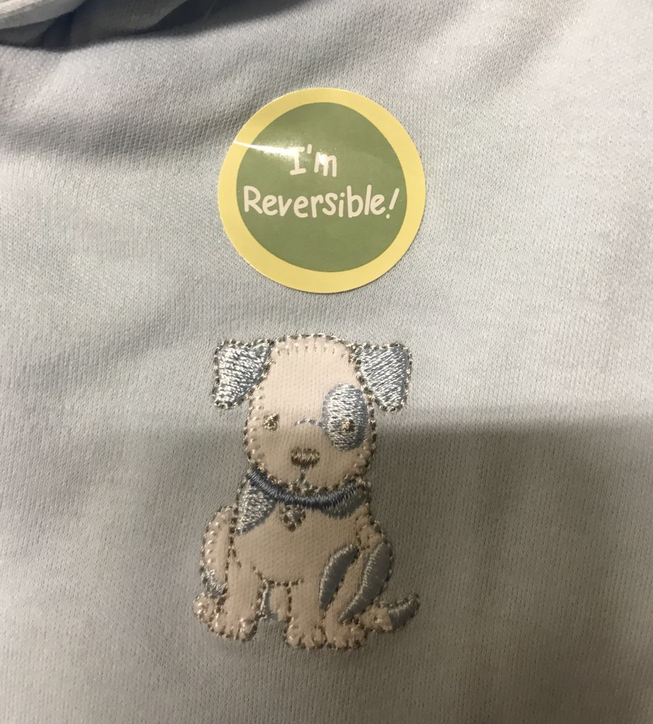 Little Me puppy reversible jacket infants, white/lt.blue