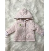 Little Me petals reversible jacket - white/pink