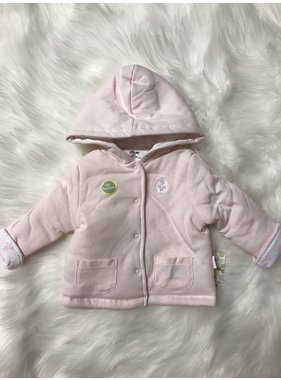 Little Me petals reversible jacket - white/pink