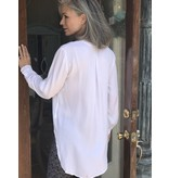 BLU44 Henley Blouse with Shirt Tail by Blu 44