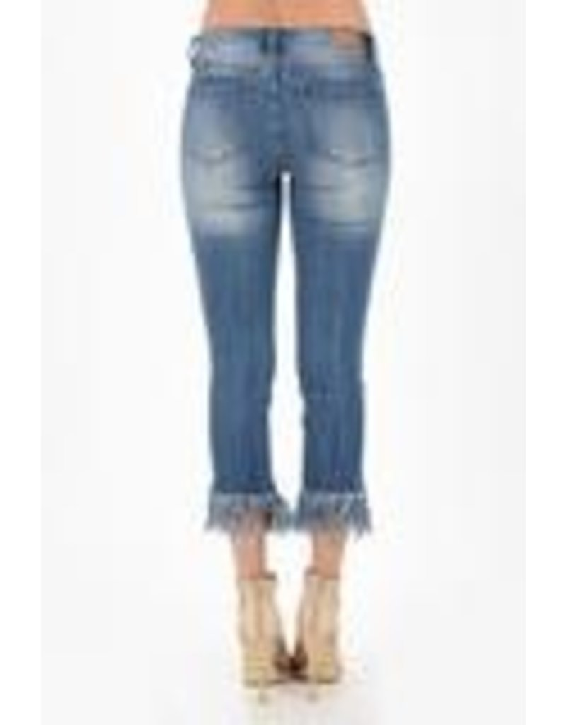 Judy Blue long fray cropped jean