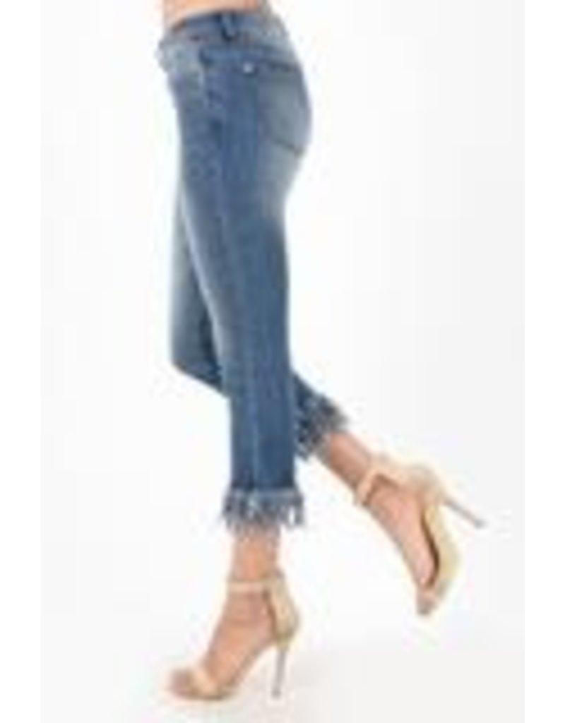 Judy Blue Judy Blue Long Fray Cropped Jean