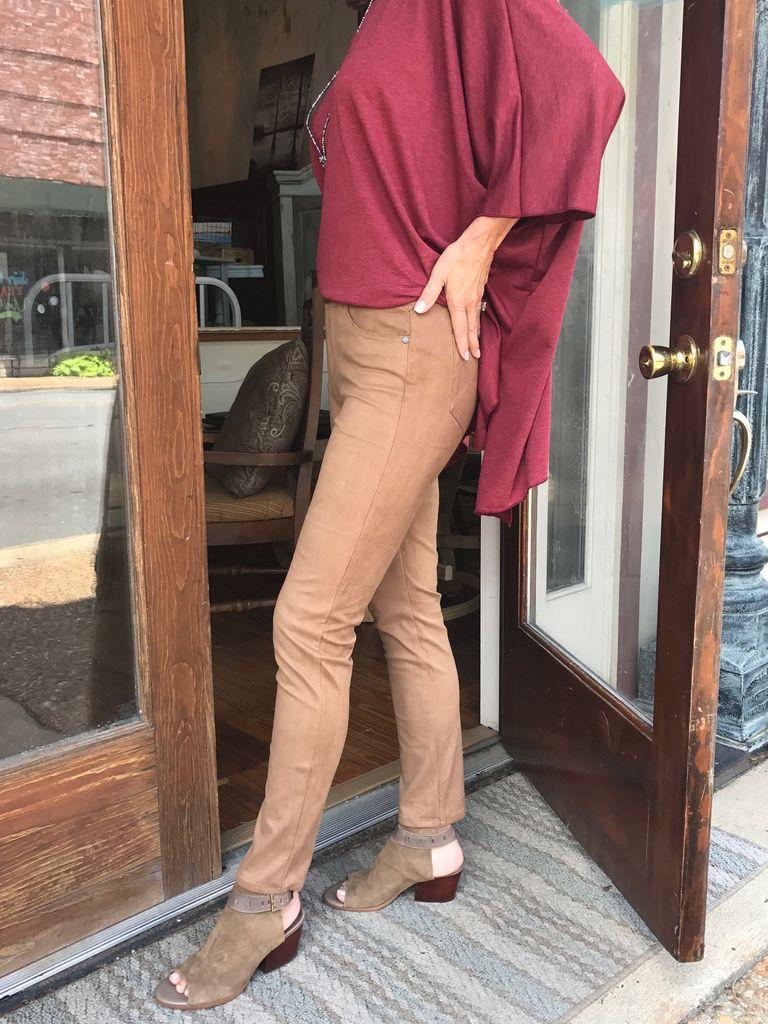 Foxcroft Slimming Nina Faux Suede Leggings by Foxcroft