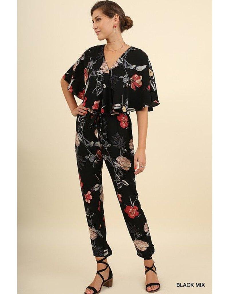 Umgee Floral Jumpsuit