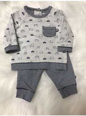 Little Me Navy Stripe 2 pc Jogger Set by Little Me