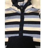 Little Me Blue Stripe Coverall by Little Me