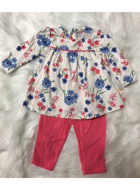 Little Me Pink Floral Tunic/Legging Set by Little Me