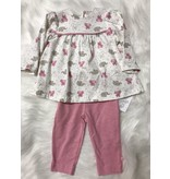 Little Me Tunic/Legging 2 pc set with Elephant Print by Little Me