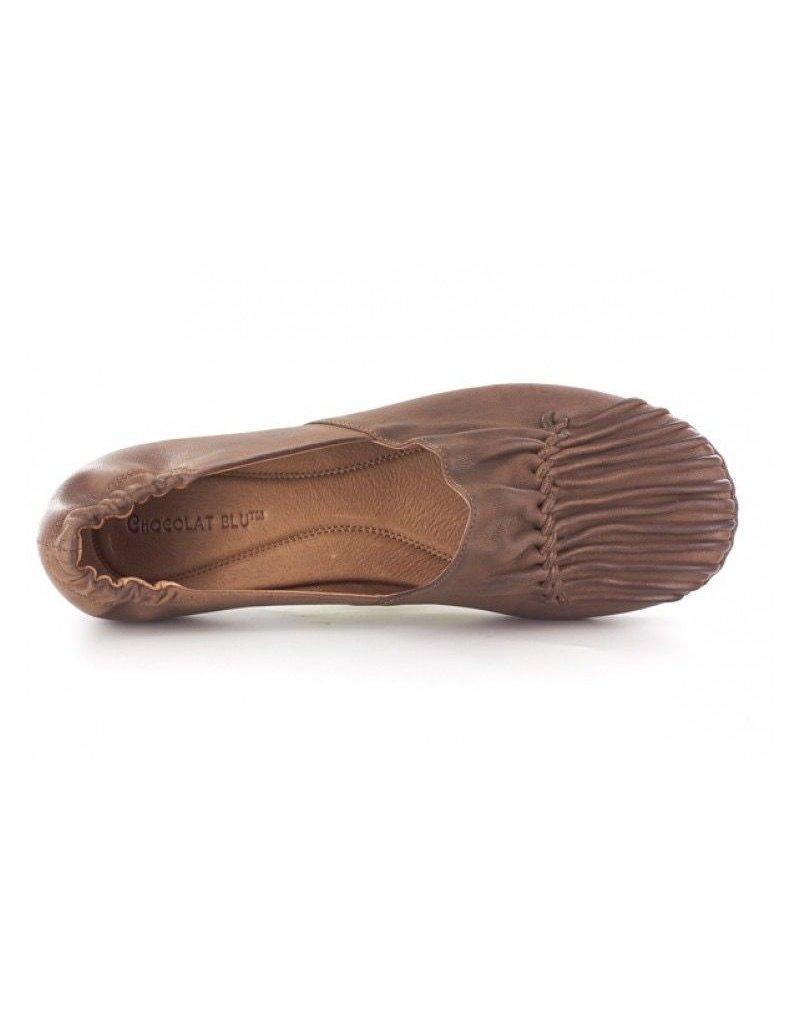 Chocolat Blu cam flat in camel leather