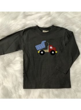 Acvisa (luigi) Long Sleeve T-Shirt with Dump Truck Applique by Luigi