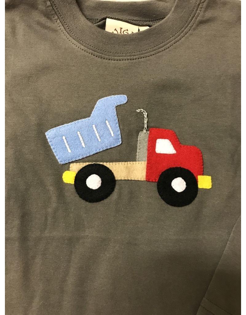 Acvisa (luigi) Long Sleeve T-Shirt with Dump Truck Applique by Luigi
