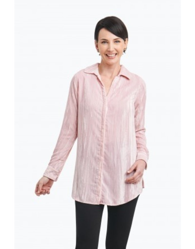 """Foxcroft """"Ivy"""" Tunic in Broomstick Velvet by Foxcroft"""