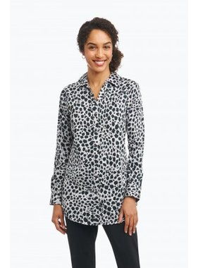 Foxcroft Fay Wrinkle Free Tunic in Silver Animal by Foxcroft