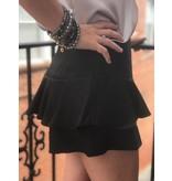 She + Sky Ruffle High Waist Shorts
