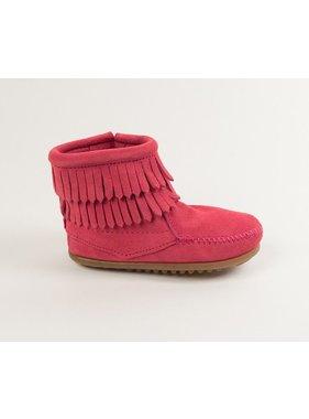Minnetonka Back Zip Bootie in Hot Pink by Minnetonka