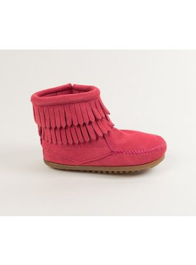 Minnetonka Double Fringe Side Zip Boot by Minnetonka