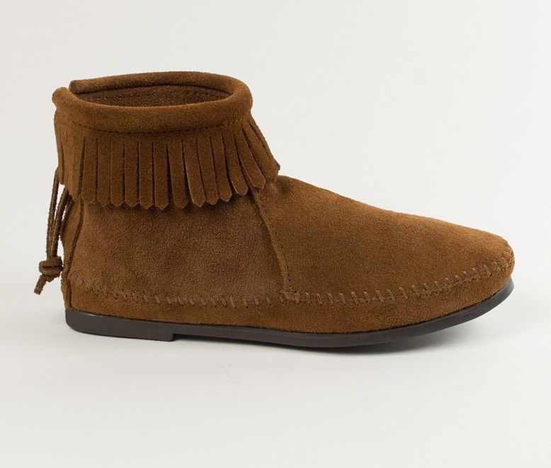 Minnetonka Back Zip Hardsole Boot by Minnetonka