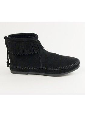 Minnetonka Back Zip Bootie in Black by Minnetonka