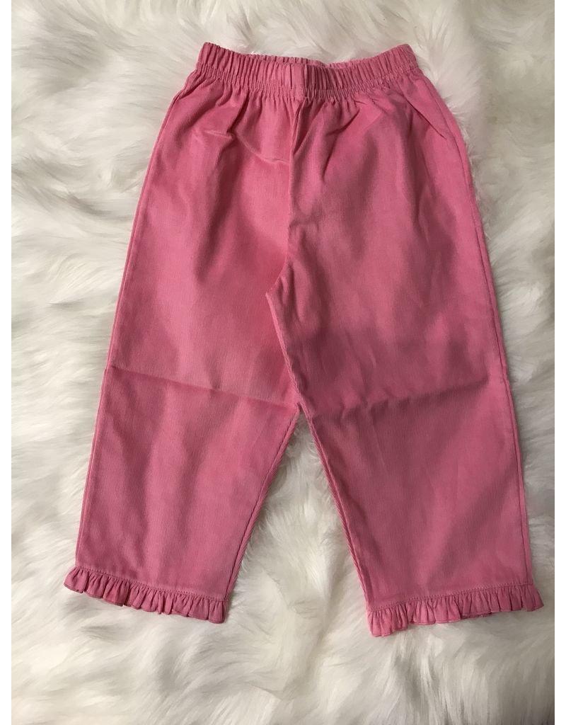 ACVISA Corduroy Pants with Ruffled Bottom by Luigi