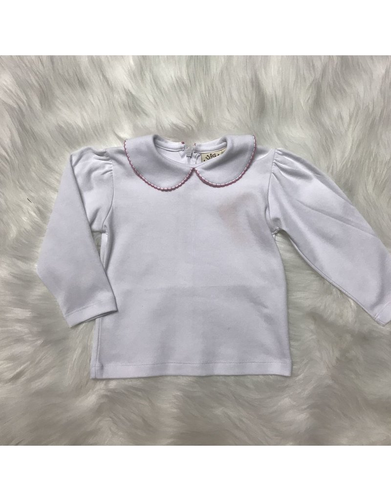 ACVISA L/S Knit Top with Picot Edge Collar by Luigi