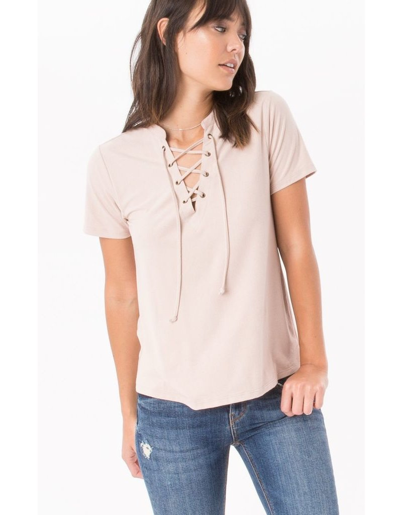 Z Supply The Suede Lace Up Top