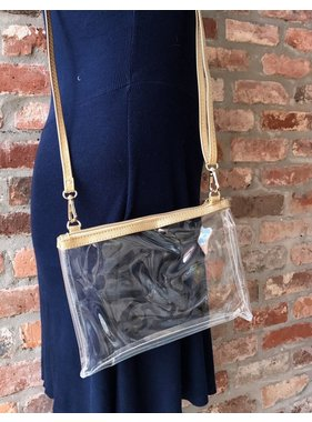 Caroline Hill stadum clear crossbody bag