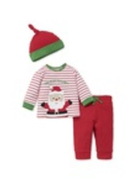 Little Me Santa Jogger Set