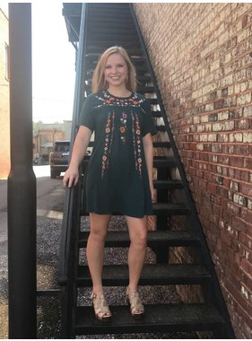 Umgee Embroidered A-Line Dress
