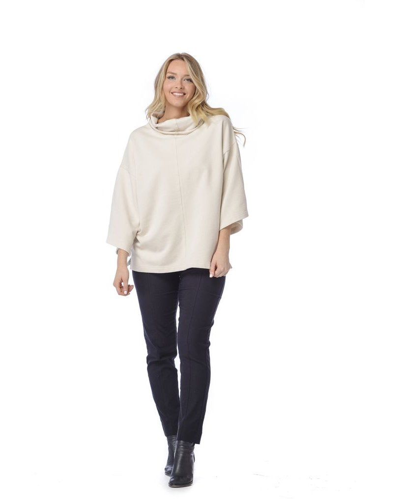 Habitat French Terry Drop Shoulder Cowl Neck Sweatshirt