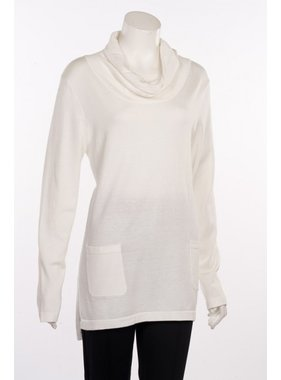 Erin London Two Pocket Cowl Neck Top in Off White by Erin London