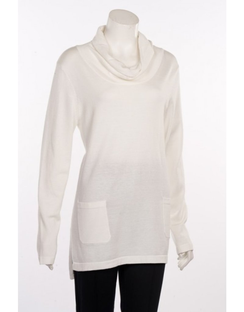 Erin London Two Pocket Cowl Neck Tunic by Erin London