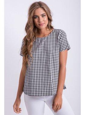 Peach Love California Gingham Short Sleeve Shirt