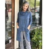 Erin London Long Crossover Cowl Neck Tunic Vest by Erin London