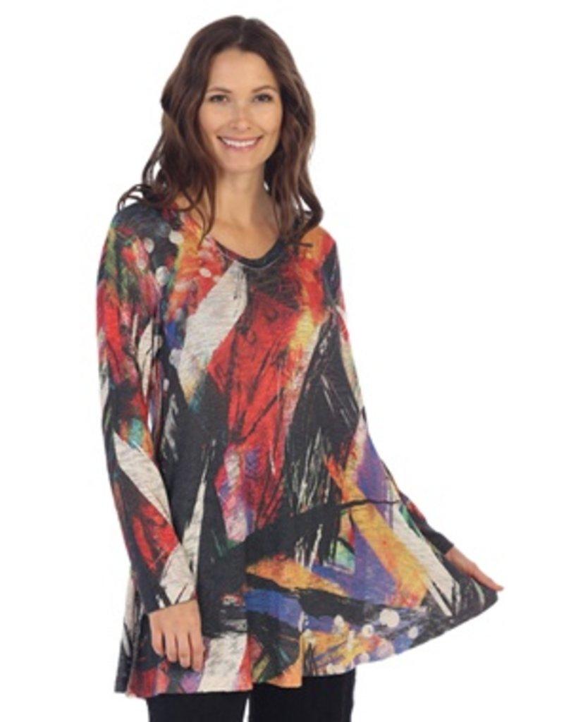 Jess & Jane Spectrum Slub Sweater Knit Classic Tunic