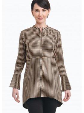 Foxcroft Cally Satin Stripe Blouse by Foxcroft