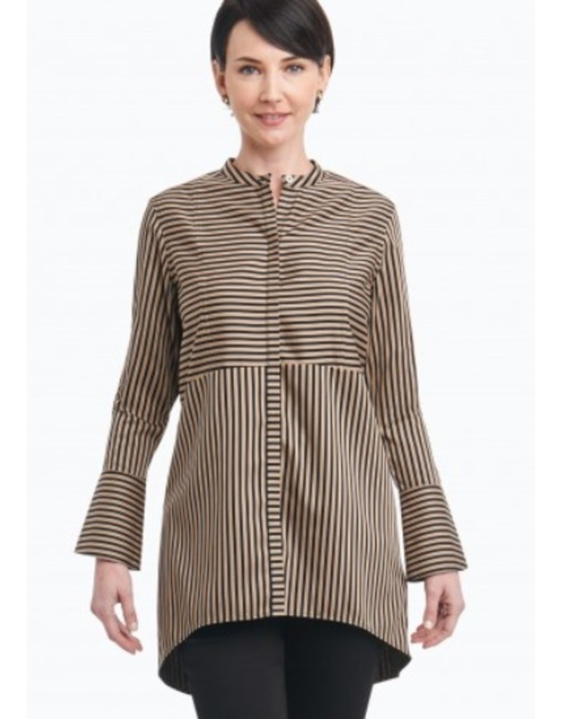 Foxcroft Long Sleeve Cally Satin Stripe Blouse by Foxcroft
